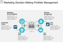 Marketing Decision Making Portfolio Management Leadership Teams Communication Management Cpb