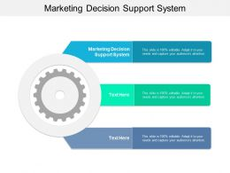 Marketing Decision Support System Ppt Powerpoint Presentation Ideas Slides Cpb