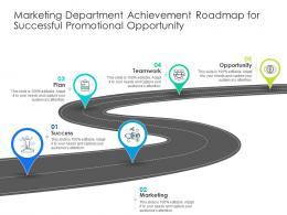 Marketing Department Achievement Roadmap For Successful Promotional Opportunity
