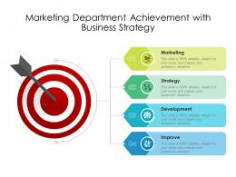 Marketing Department Achievement With Business Strategy