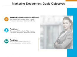 Marketing Department Goals Objectives Ppt Powerpoint Presentation Infographic Template Aids Cpb