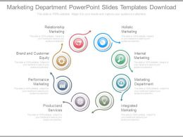 Marketing Department Powerpoint Slides Templates Download