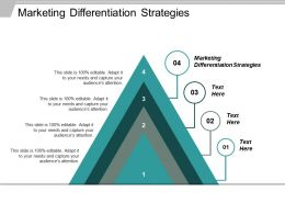 Marketing Differentiation Strategies Ppt Powerpoint Presentation Ideas Mockup Cpb