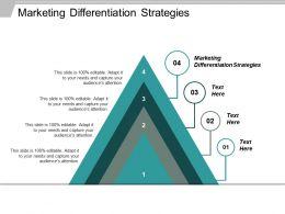 Marketing Differentiation Strategies Ppt Powerpoint Presentation Ideas Mockup Cpb