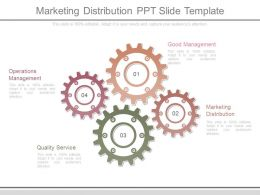 Marketing Distribution Ppt Slide Template