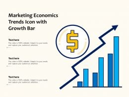 Marketing Economics Trends Icon With Growth Bar