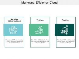 Marketing Efficiency Cloud Ppt Powerpoint Presentation Styles Rules Cpb