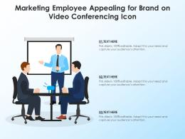 Marketing Employee Appealing For Brand On Video Conferencing Icon