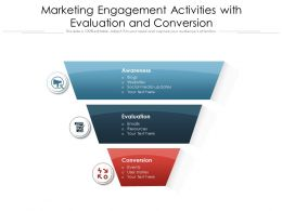 Marketing Engagement Activities With Evaluation And Conversion