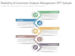 Marketing Environment Analysis Management Ppt Sample