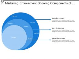 Marketing Environment Showing Components Of Internal And Macro Environment
