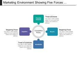 Marketing Environment Showing Five Forces Analysis