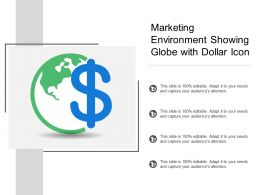 Marketing Environment Showing Globe With Dollar Icon