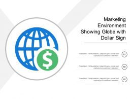 Marketing Environment Showing Globe With Dollar Sign