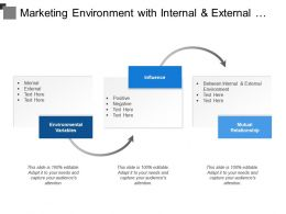 Marketing Environment With Internal And External Forces