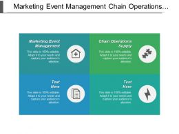 Marketing Event Management Chain Operations Supply Business Advertisement Cpb