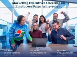 Marketing Executives Cheering On Employees Sales Achievement