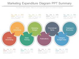 Marketing Expenditure Diagram Ppt Summary