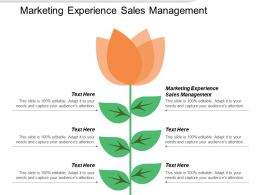 Marketing Experience Sales Management Ppt Powerpoint Presentation Layouts Graphics Cpb