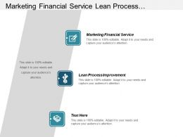Marketing Financial Service Lean Process Improvement Retail Banking Strategy Cpb