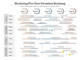Marketing Five Year Swimlane Roadmap