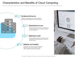 Marketing For Characteristics And Benefits Of Cloud Computing Multi Tenant Ppt Visuals