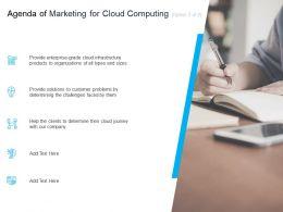 Marketing For Cloud Computing Agenda Of Computing Infrastructure Ppt Portfolio