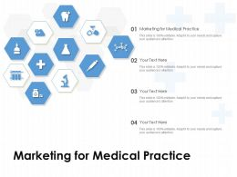 Marketing For Medical Practice Ppt Powerpoint Presentation Model Objects