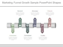 Marketing Funnel Growth Sample Powerpoint Shapes