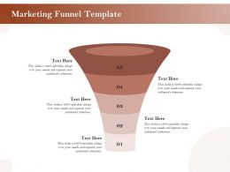 Marketing Funnel Template Ppt Powerpoint Presentation Pictures Model