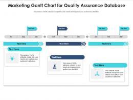 Marketing Gantt Chart For Quality Assurance Database