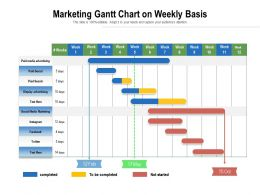 Marketing Gantt Chart On Weekly Basis