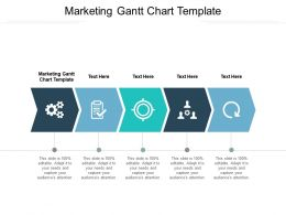 Marketing Gantt Chart Template Ppt Powerpoint Presentation Show Background Cpb