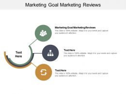 Marketing Goal Marketing Reviews Ppt Powerpoint Presentation Ideas Cpb