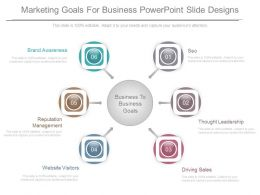Marketing Goals For Business Powerpoint Slide Designs