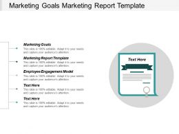 Marketing Goals Marketing Report Template Employee Engagement Model Cpb