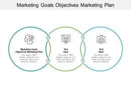 Marketing Goals Objectives Marketing Plan Ppt Powerpoint Presentation Infographic Template Cpb