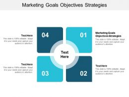 Marketing Goals Objectives Strategies Ppt Powerpoint Presentation Portfolio Images Cpb