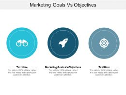 Marketing Goals Vs Objectives Ppt Powerpoint Presentation Portfolio Layout Cpb