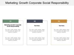 Marketing Growth Corporate Social Responsibility Ppt Powerpoint Presentation Summary Cpb