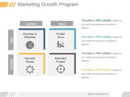 Marketing Growth Program Ppt Example Professional