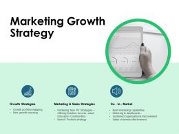 Marketing Growth Strategy Growth Ppt Powerpoint Presentation Icon Clipart