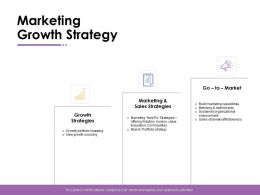 Marketing Growth Strategy Management Ppt Powerpoint Presentation Graphic Images