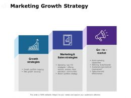 Marketing Growth Strategy Ppt Powerpoint Presentation File Visual Aids
