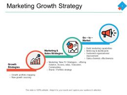 Marketing Growth Strategy Ppt Powerpoint Presentation Pictures Deck