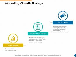 Marketing Growth Strategy Ppt Powerpoint Presentation Pictures Graphics Tutorials