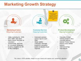 Marketing Growth Strategy Ppt Show Infographic Template