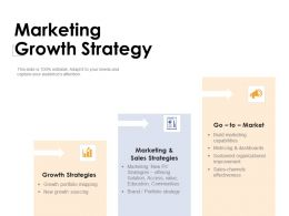 Marketing Growth Strategy Sales Brand K331 Powerpoint Presentation Infographic