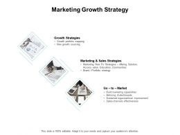Marketing Growth Strategy Sales Dashboards Ppt Powerpoint Presentation Inspiration Information