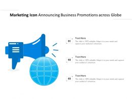 Marketing Icon Announcing Business Promotions Across Globe